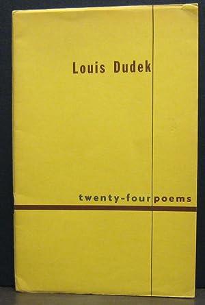 Twenty-four Poems: DUDEK, LOUIS