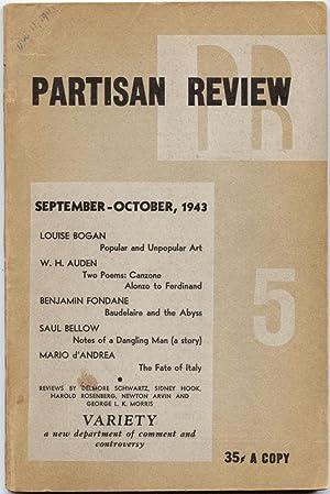 Partisan Review. Volume X, No. 5. September-October, 1943: BELLOW, SAUL, W.H. AUDEN, et al