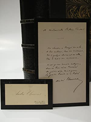 Reine Des Bois. [With Handwritten Poem Signed By the Author]: THEURIET, ANDRE] -