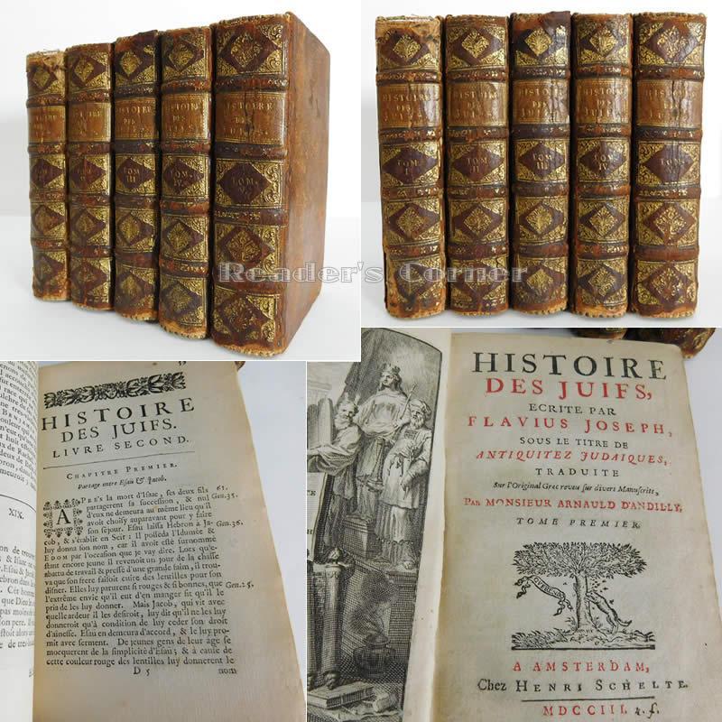 Histoire Des Juifs / Ecrite Par Flavius Joseph Sous le Titre de Antiquitéz Judaiques ...
