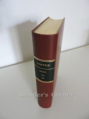 Briefe der Jahre 1764-1786. Gedenkausgabe der Werke,: Goethe, Johann Wolfgang: