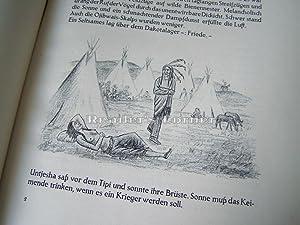 Ua-Pua.! Indianer-Dichtungen. Mit 30 Kreidezeichnungen von Georg Schrimpf, München.: Graf, ...