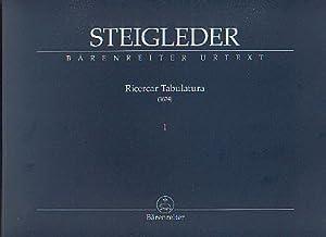 Ricercar Tabulatura 1 (1624): Steigleder, Johann Ulrich