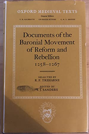 Documents of the Baronial Movement of Reform and Rebellion 1258-1267