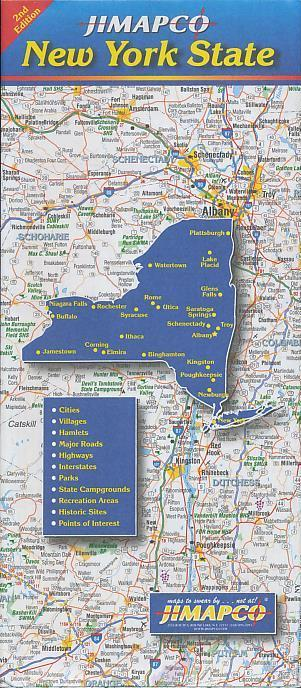 Road Map of New York State