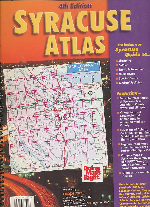 Suny Esf Campus Map.Syracuse Ny Atlas By Works Map Map Works Inc 9781932276213