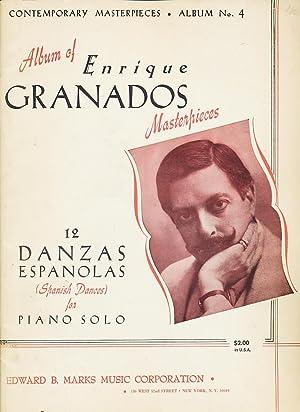 Album of Enrique Granados Masterpieces 12 Danzas Espanolas (Spanish Dances) for Piano Solo: ...