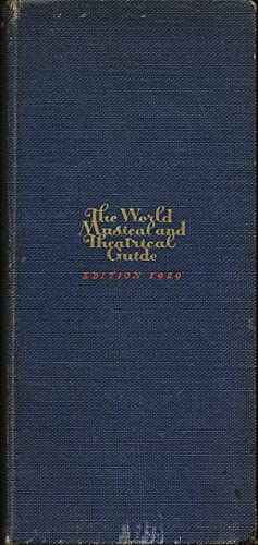 The World Musical Musical and Theatrical Guide 1929: Salter, Norbert (Editor)
