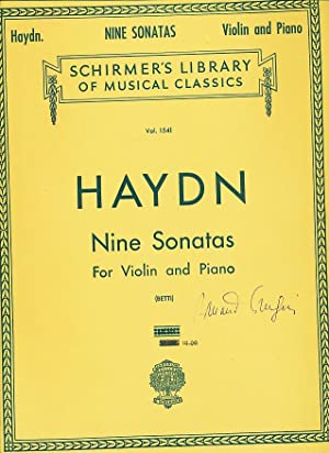 Nine Sonatas for Violin and Piano . Edited by A. Betti (Schirmer's Library of Musical Classics...