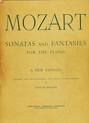 Sonatas and Fantasies for the Piano. A: Mozart, Wolfgang Amadeus