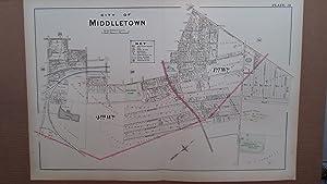 Original 1903 Map: Part of City of Middletown, Orange County, New York #31: Lathrop, J.M.
