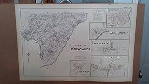 Original 1903 Map: Wawayanda, Denton, Slate Hill, Orange County, New York #36: Lathrop, J.M.