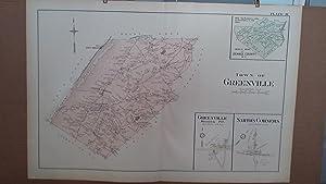 Original 1903 Map: Greenville, Smith's Corners, Orange County, New York #44: Lathrop, J.M.