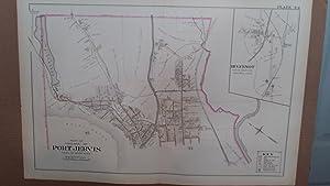 Original 1903 Map: Port Jervis, Orange County, New York #44: Lathrop, J.M.