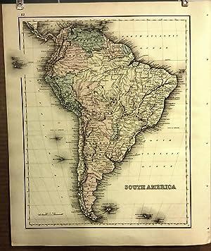 Original 1876 Map of South America: Davis, Gray &; H.L. Kochersperger (ed.)