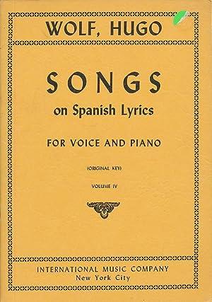 Wolf, Hugo: Songs on Spanish Lyrics, for: Wolf, Hugo