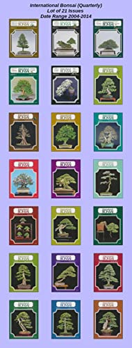 Lot of 21 International Bonsai Journals 2004-2014: International Bonsai Arboretum
