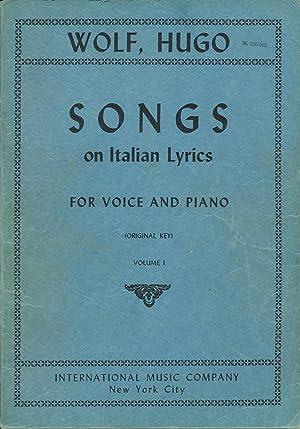 Wolf, Hugo: Songs on Italian Lyrics, for: Wolf, Hugo