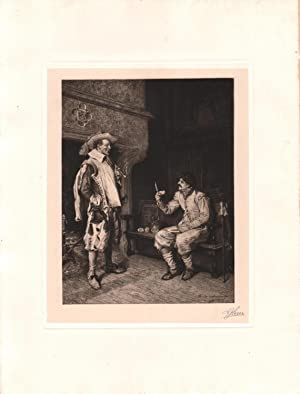 Original Signed Etching Story of the Campaign, by Stephen James Ferris: Jean Charles Messionier (...