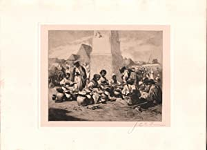 Original Pencil Signed Etching Market Scene in Hungary, by Jean Leon Gerome Ferris: August von ...