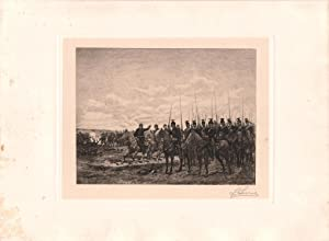 Original Pencil Signed Etching Scene in the Franco-Prussian War, by Stephen James Ferris: J.B. ...