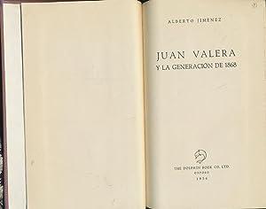 Juan Valera y la generacion de 1868.: Jimenez, Alberto