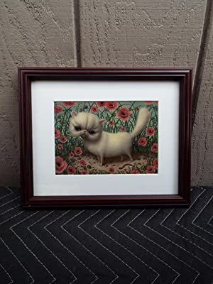 Marion Peck Framed Print: Big White Pussy