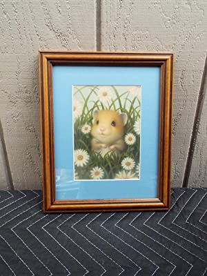 Marion Peck Framed Print: Hamster in the Grass