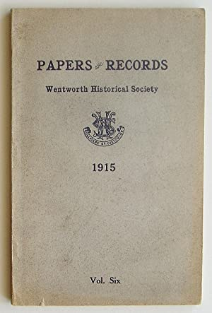Papers and Records of the Wentworth Historical Society, Volume Six