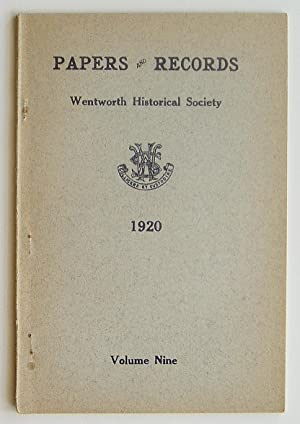 Papers and Records of the Wentworth Historical Society, Volume Nine