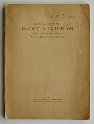 Catalogue of Inaugural Exhibition, January 29th to February 28th, Nineteen Hundred and Twenty-Six...