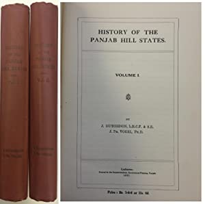 HISTORY OF THE PANJAB HILL STATES: HUTCHISON, J. and
