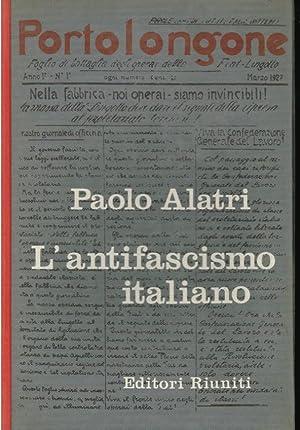 L' antifascismo italiano,: Alatri Paolo