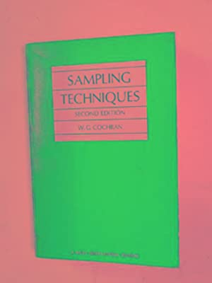 Sampling techniques: COCHRAN, William G.