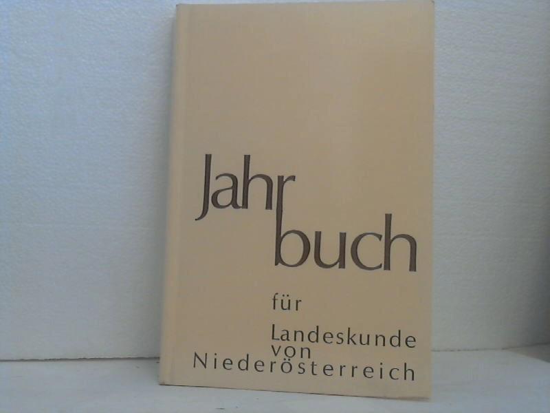 Jahrbuch für Landeskunde von Niederösterreich. Neue Folge / Jahrbuch für Landeskunde von Niederösterreich - Neue Folge