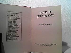 Jack O` Judgment.: Wallace, Edgar;