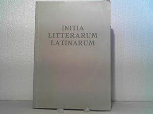 Initia litterarum Latinarum. - Zur Einführung in: Gaar, [Emil], Wilhelm