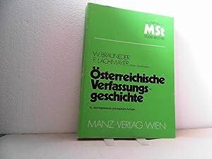 Österreichische Verfassungsgeschichte. 6., durchgesehene und ergänzte Auflage. (=Manzsche...