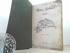 Matura-Festschrift 1913. - Deutsches Studentenheim. [Umschlagtitel: zur Erinnerung an die Matura ...