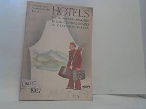 Verzeichnis der Hotels in der Cechoslovakei = Annuaire des Hôtels de Tchécoslovaquie =...