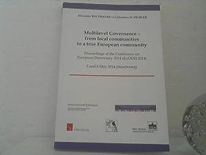 Multilevel governance - from local communities to: Balthasar, Alexander (Hrsg.)