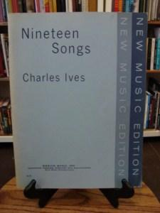 NINTEEN SONGS: Ives, Charles