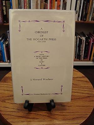 CHECKLIST (A) OF THE HOGARTH PRESS: Woolmer, J. Howard