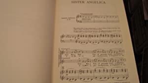 PUCCINI: SISTER ANGELICA, VOCAL SCORE: Forzano, Giovacchino (trans. Withers, Herbert)