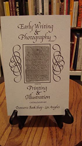 CATALOGUE 437: EARLY WRITING & PHOTOGRAPHY