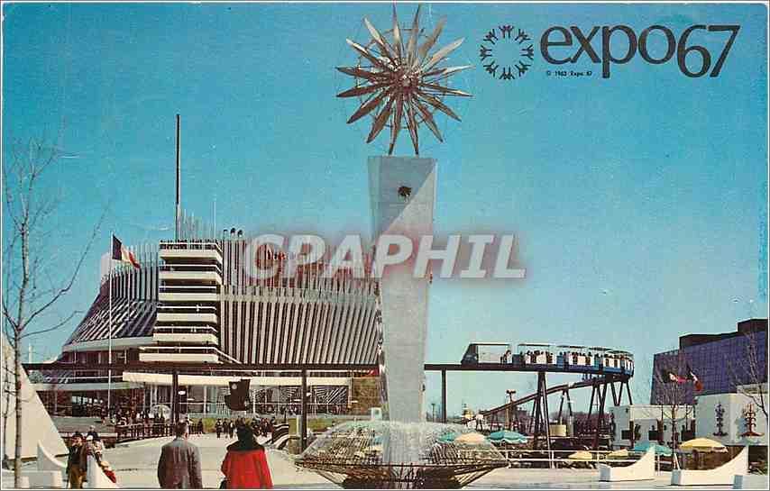 Carte Canada Montreal.Carte Postale Moderne Le Pavillon De France