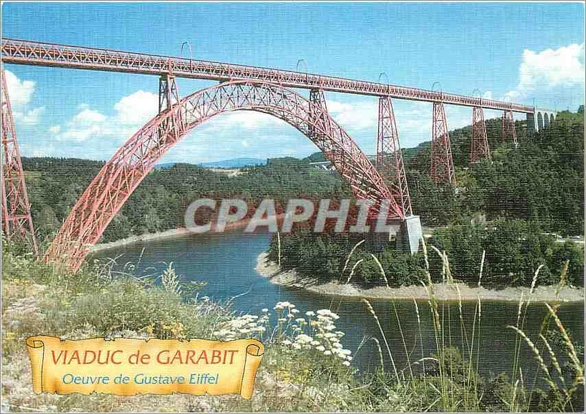 Carte Postale Moderne Viaduc de Garabit Oeuvre