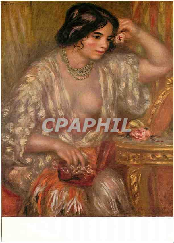 Carte Postale Moderne Auguste Renoir Gabrielle aux bijoux A M Albert Skira Geneve Imprime en Suisse par les Editions d Art Albert Skira