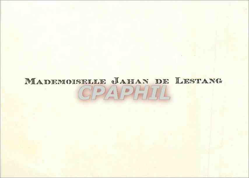 Carte De Visite Mademoislle Jahan Lestang