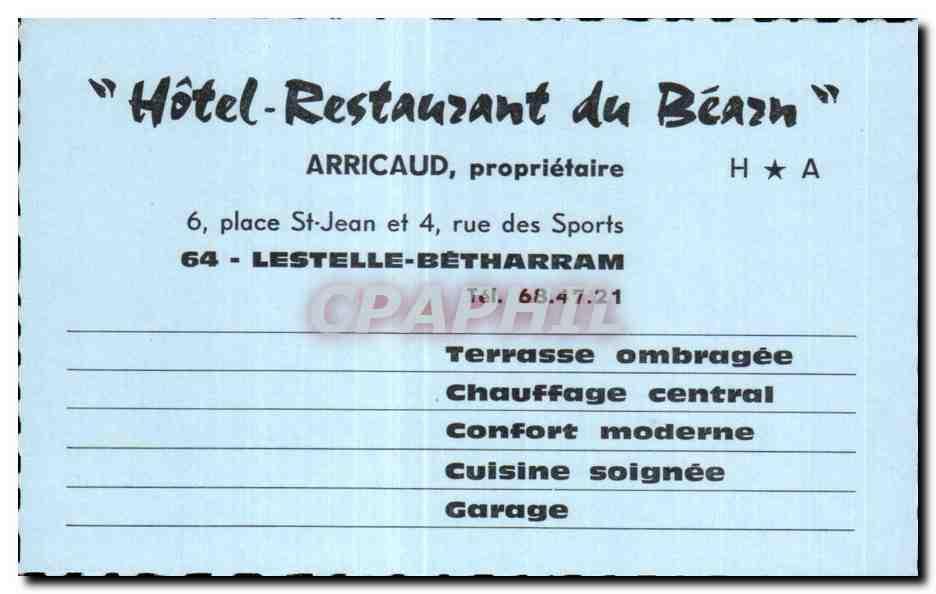 Carte De Visite Hotel Restaurant Du Beach